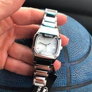 NWT Shark full metal watch